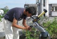 H-alpha solar imaging session