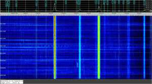 VLF signals spectrogram