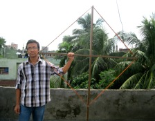 Me with VLF loop antenna