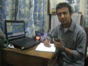I'm working in my HAM radio station
