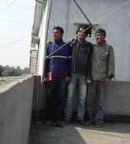 With my friends after finnishing our Yagi Interferometer