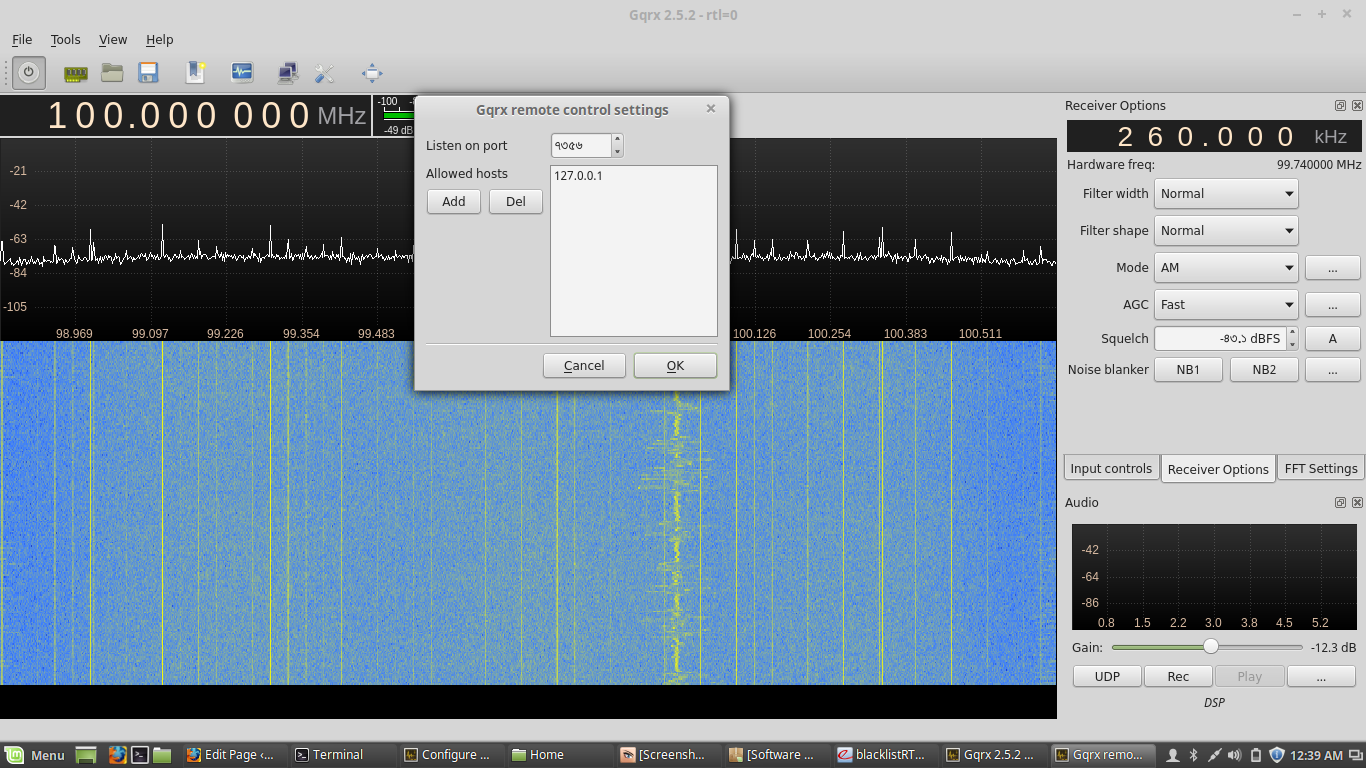 RTL SDR (rtl2838) on Linux | Astronomy log